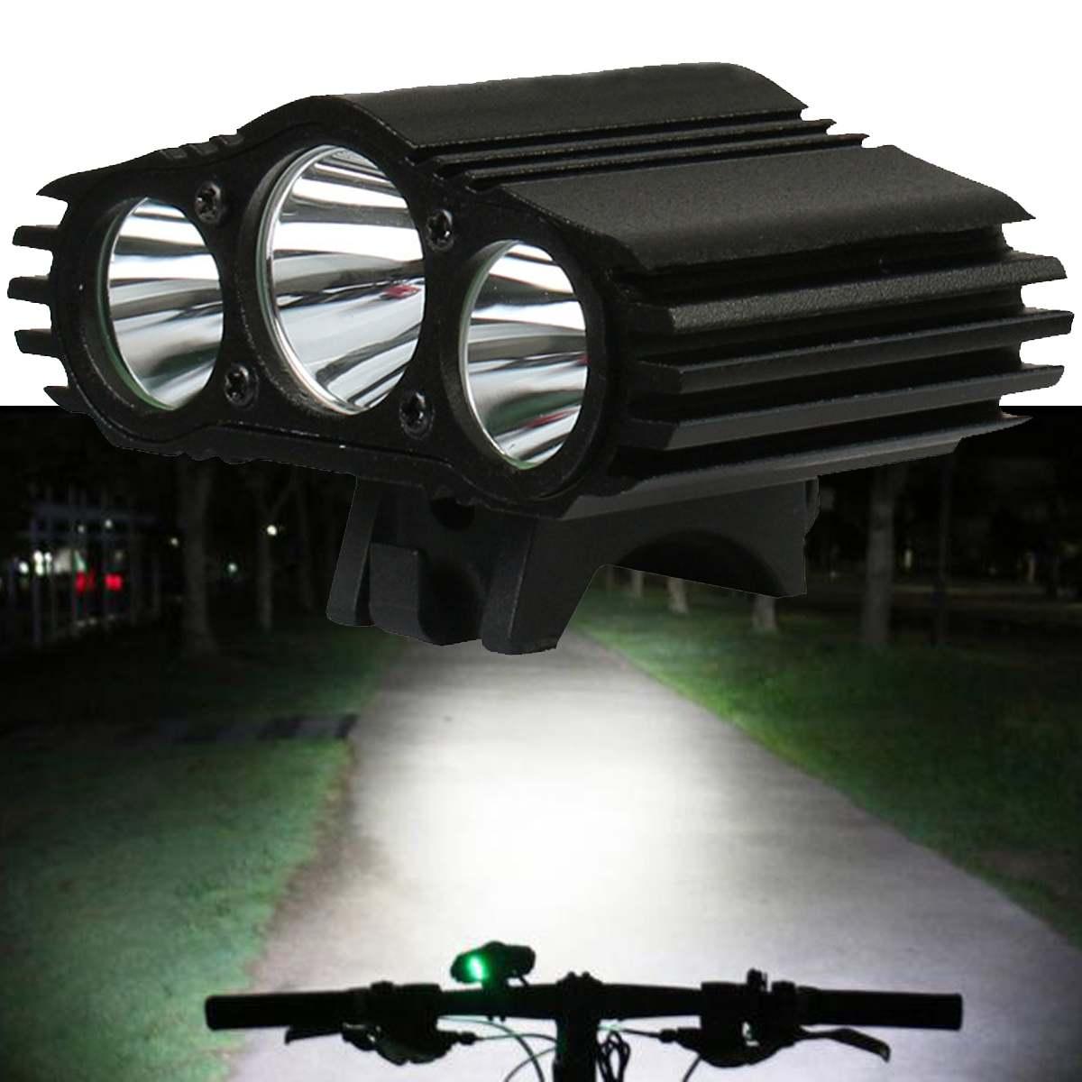 XANES 2700LM faro delantero de ciclismo 3xT6 LED 4 modos IPX6 impermeable Luz de bicicleta faro Control de temperatura Pantalla de potencia No