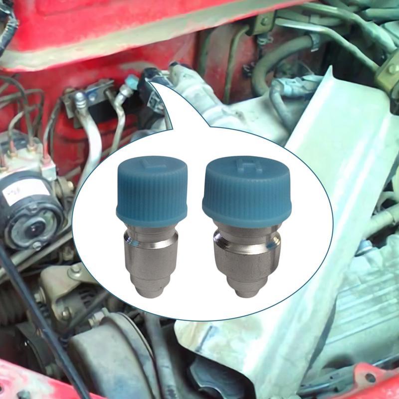 Port R134a universel de voiture 6 pièces/lot   Port de Service latéral élevé et bas avec capuchon de noyau de Valve JRA, utilisé pour la voiture, Pipeline de climatisation A/C