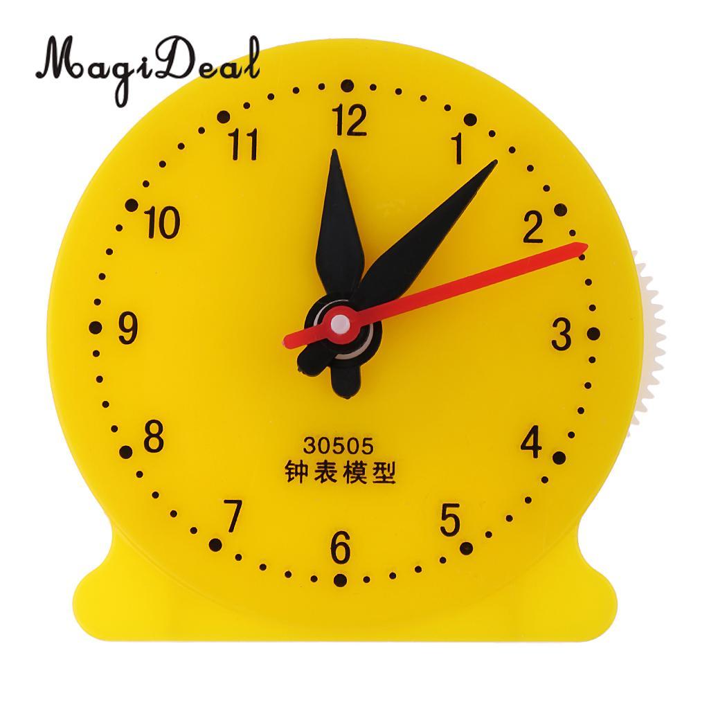Reloj didáctico para niños y estudiantes de matemáticas, modelo aprendiendo a contar el tiempo, juguetes educativos de matemáticas, reloj, suministros escolares