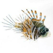 Aquarium Plastic Floating Glowing Wiggling Tail Lionfish Ornament