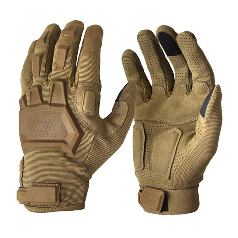 Hombres al aire libre entrenamiento de ciclismo guantes tácticos militares escalada caza tiro deportes transpirables guantes con dedos completos