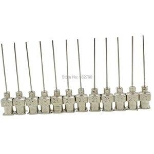 12pcs 19G/21G/23G/25G Dispensing Needles Blunt Tip 21G Dispensing Fill Needle Blunt Needle Adhesive Mix Dispenser Tips