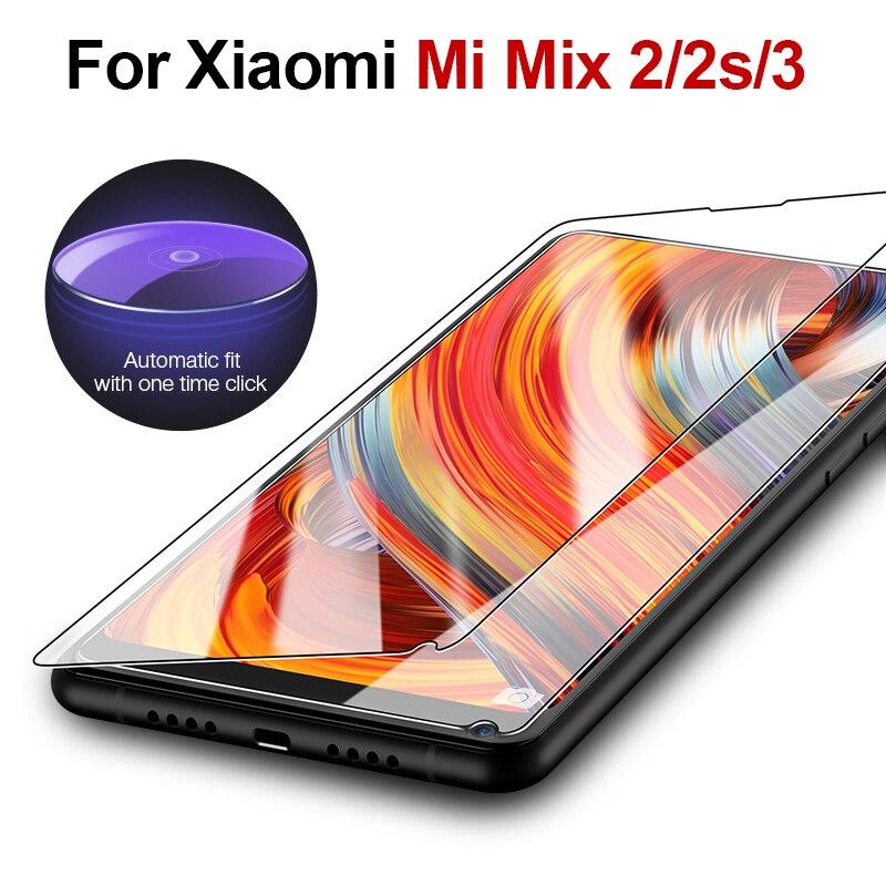 Mi mix 2s glass for xiaomi mi mix 2 s 3 ksiomi mix2 protective glas s2 xiomi xaomi xiami screen protector tempered protected 9h