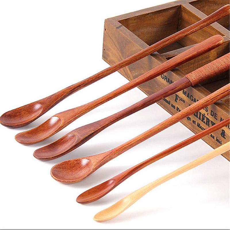 Органическое бамбуковое приготовление сервировка посуды набор кофейного чая Ложка-мешалка деревянная мешалка Мини палочки