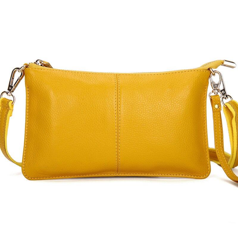 15 colores 100% bolso de mano de piel Real bolsos de lujo de mujer de cuero genuino bandolera de piel de becerro bolsos de bandolera de diseñador