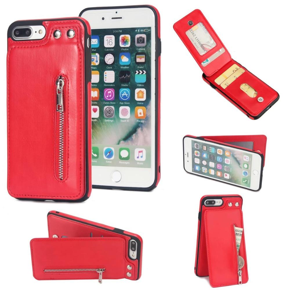 Многофункциональный флип-чехол из искусственной кожи в стиле ретро для iPhone X XS Max XR, чехол с отделениями для карт для iPhone 6 6s 7 8 Plus, кошелек на м...