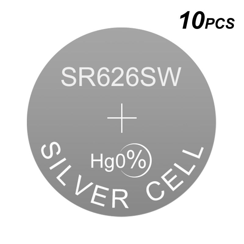 Relógio Bateria alcalina Botão Célula De Prata LR626 1.5V LR 0Hg Moeda SR626SW Substitui AG4 177 377A GP377 D376 376 LR66 D377 377 377S