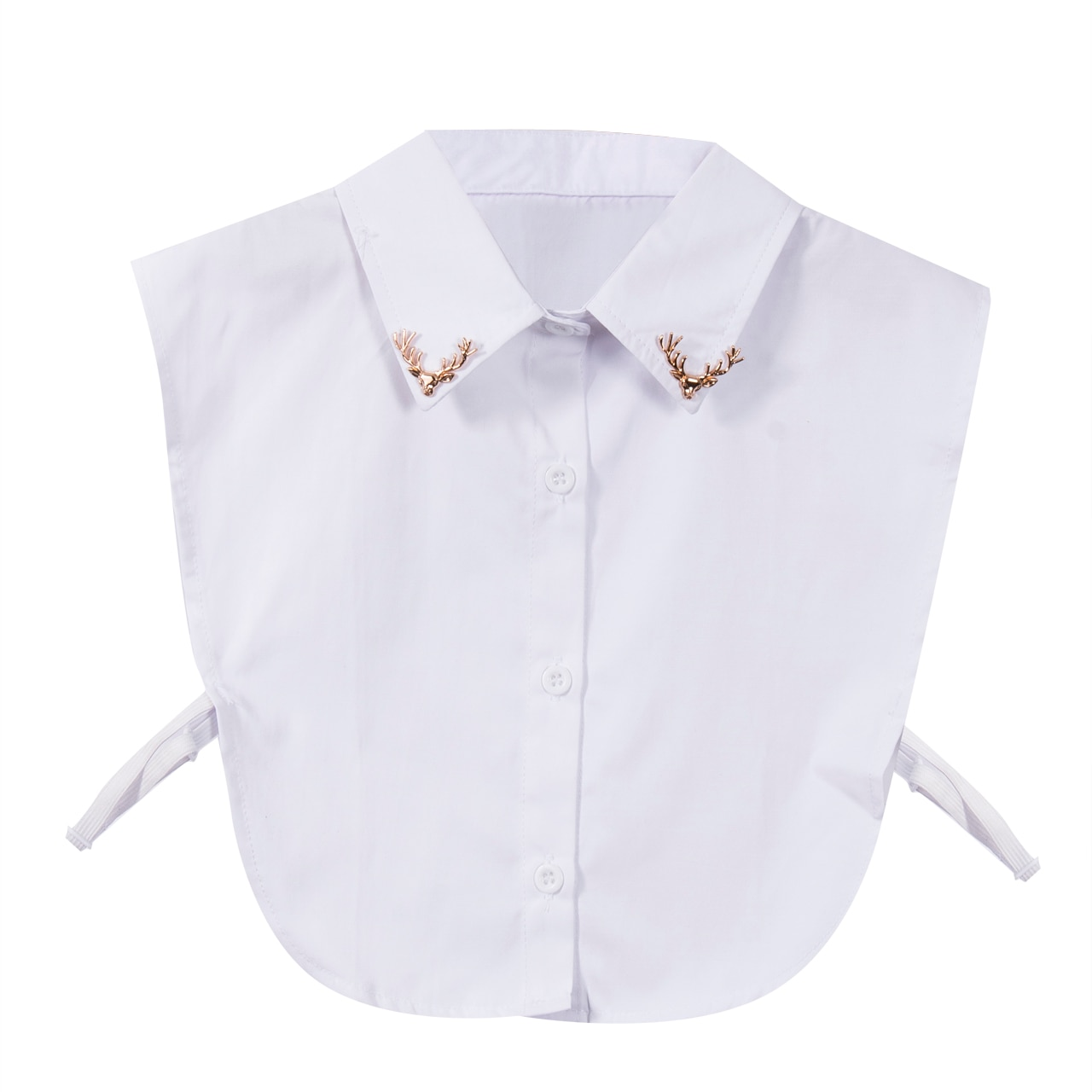 Nuevo Collar falso de ciervo adornado babero desmontable falso media solapa camisa Collar blusa cuello