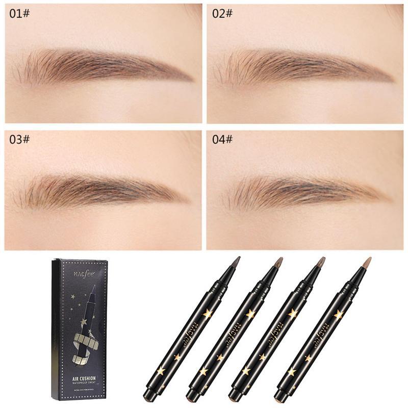 Cojín de aire presión lápiz de sombra para ojos Crema para cejas pluma de Gel de larga duración tinte automático para cejas cosméticos lápiz líquido para cejas