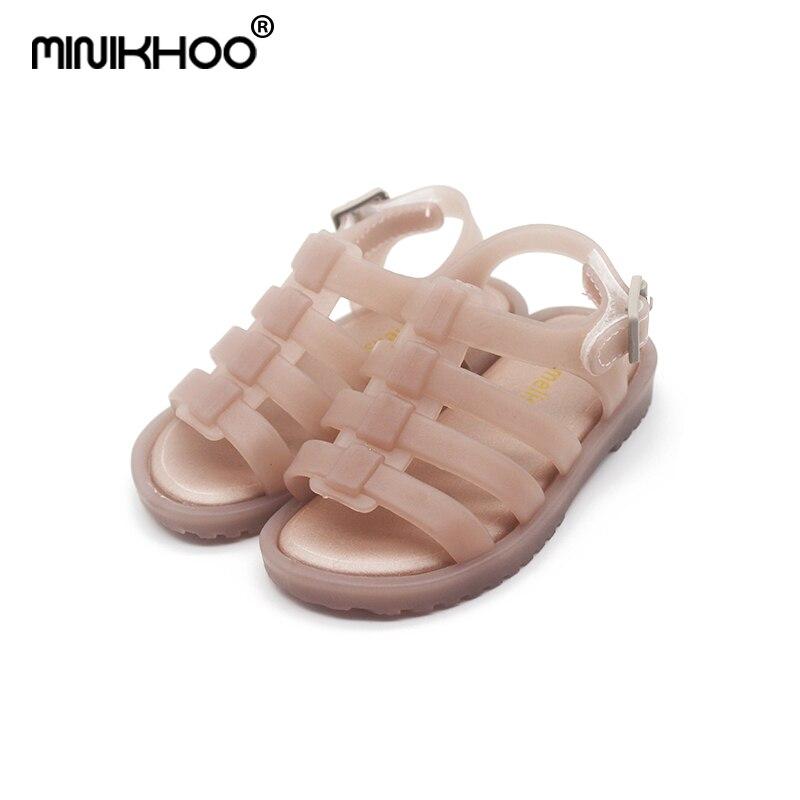 Sandalias de jalea romana niña brasileña Original Mini Melissa 2019 sandalias de verano niña Sandalias transpirables Melissa bebé playa sandalias 3 colores