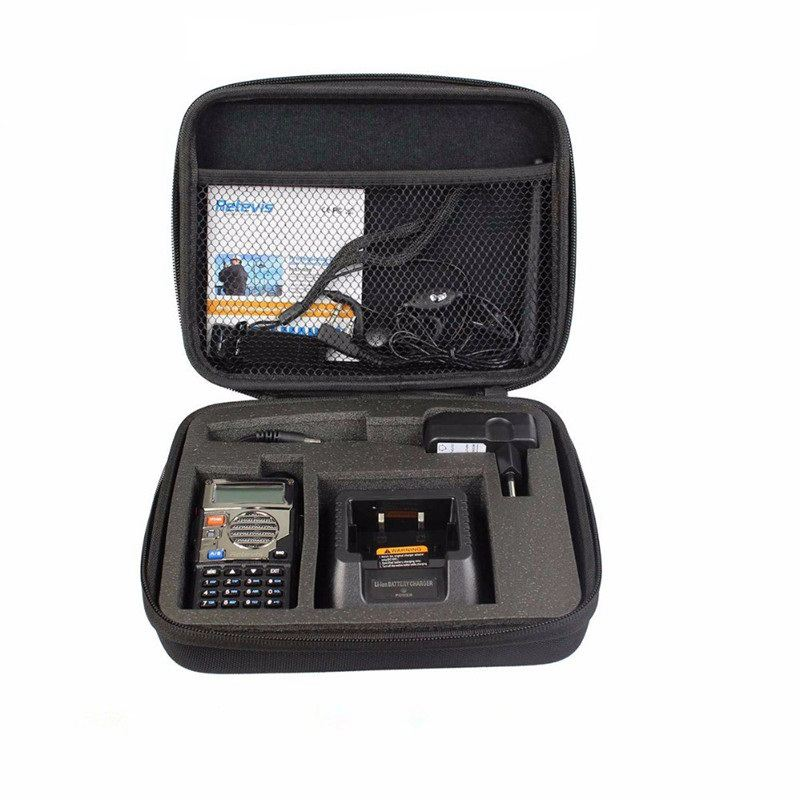 Dos forma caja de radio de transporte bolso de almacenamiento para $TERM impacto BAOFENG UV-5R BF-888S UV-82 GT-3 UV-B2 UV-9R UV-5X UV-XR UV-5S UV-B9 BF-A525R B