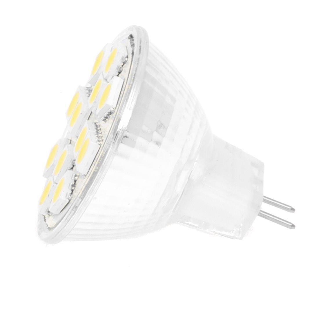 2W MR11 GU4 120-144LM bombilla LED 12 SMD 5050 lámpara blanca