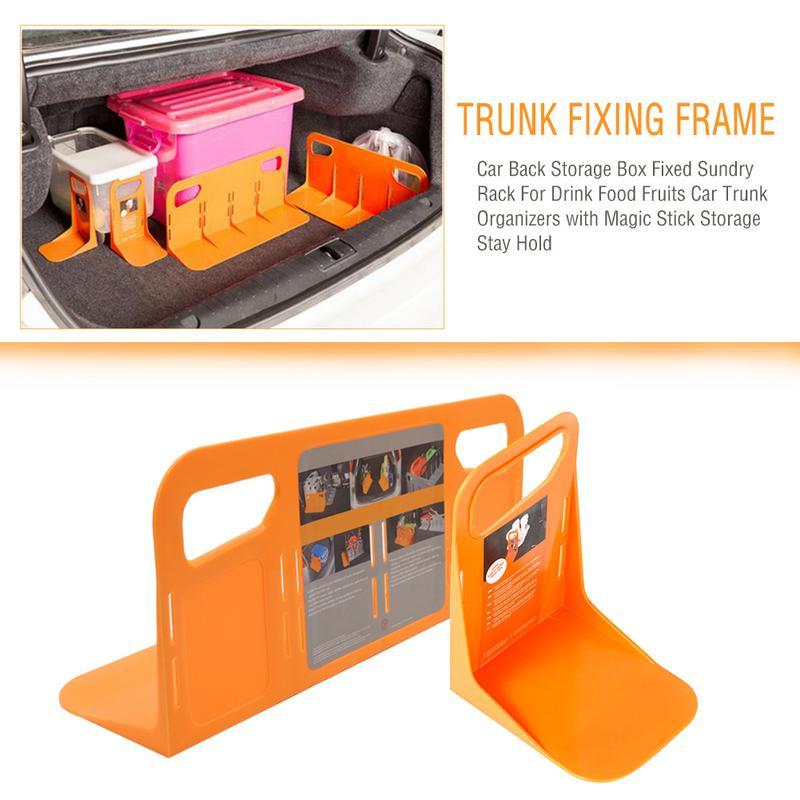 Soporte de la caja del equipaje del sostenedor fijo del estante del maletero del coche multifuncional a prueba de sacudidas organizador de la cerca del sostenedor de las unidades de almacenamiento