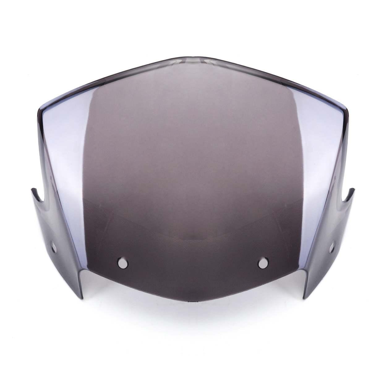 Pantalla protectora de viento de carenado para faro delantero transparente de Yamaha YBR 125, color marrón, para parabrisas de Motor, con accesorios 2014-2017