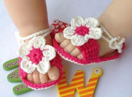 Hand knitted baby Girl booties,Baby shower gift,Baby prop Newborn Prewalker 0-12M One Size