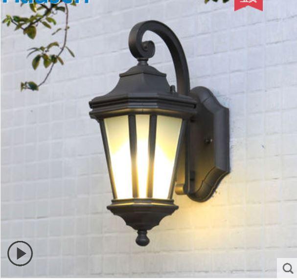 European outdoor wall lamp octagonal simple outdoor outdoor wall lamp exterior wall waterproof garden lamp balcony aisle lights
