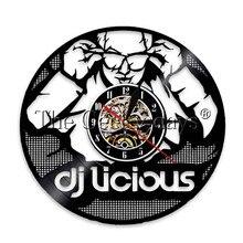 1Piece Keep Calm I'm DJ Wall Clock Rock n Roll Music Lovers Wall Watch DJ Liciours Club Party Bar Sign Time Clock DJ Gift