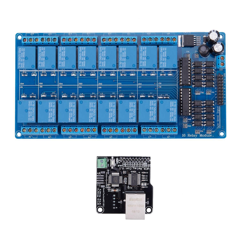 Ethernet модуль управления Lan Wan сетевой сервер RJ45 порт 16-канальный релейный