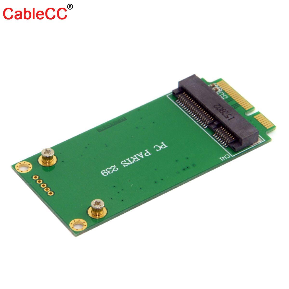 Cablecc 3x5cm mSATA adaptador de Tarjeta 3x7cm Mini PCI-E SATA SSD para Asus Eee PC 1000 S101 900 901 900A T91