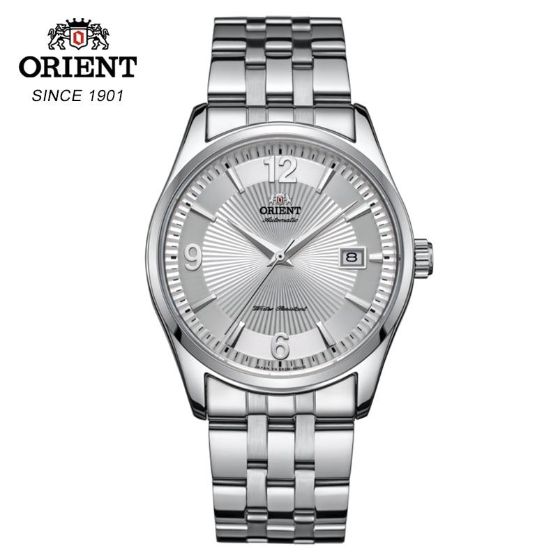 100% Ориент автоматические механические часы, модные роскошные часы из нержавеющей стали, мужские часы с дисплеем для передачи данных, глобальная гарантия
