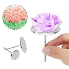Backen Piping Steht Werkzeuge Edelstahl Piping Nagel Kuchen Blume Nägel Eis Kuchen Dekorieren Werkzeuge DIY Nadel Stick