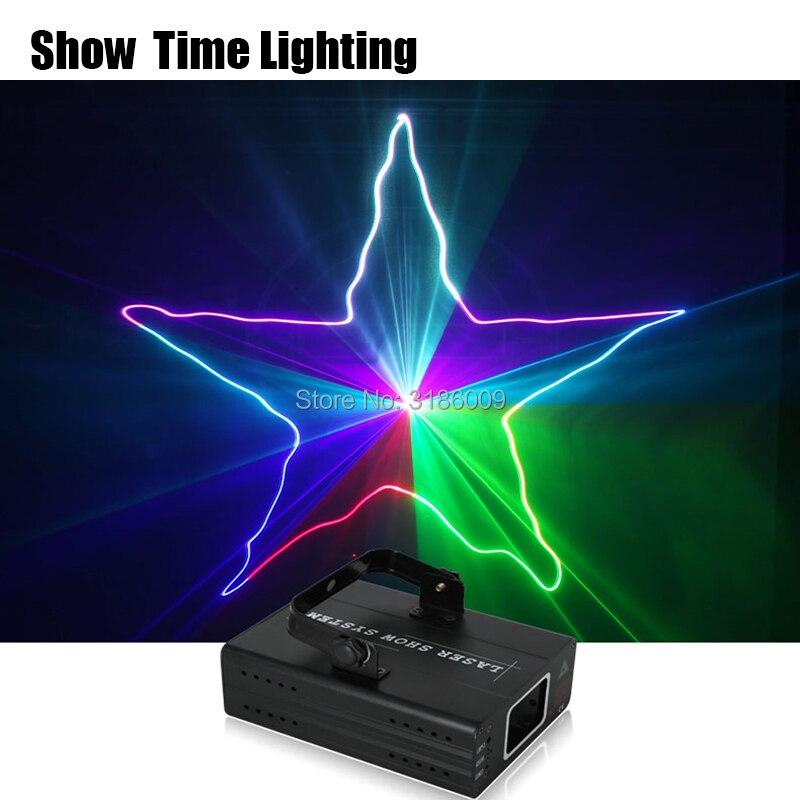 Show Time home party DJ Proyector láser escáner línea láser dmx rgb efecto de escenario iluminación para discoteca fiesta de Navidad 1 Agujero espectáculo láser