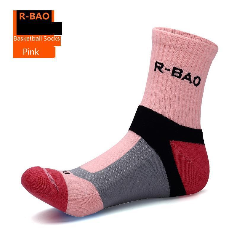 R-BAO High Quality Men's Brand Basketball Team Socks Air permeability Thickening Socks Sweating Odor Proof Friction Proof Socks