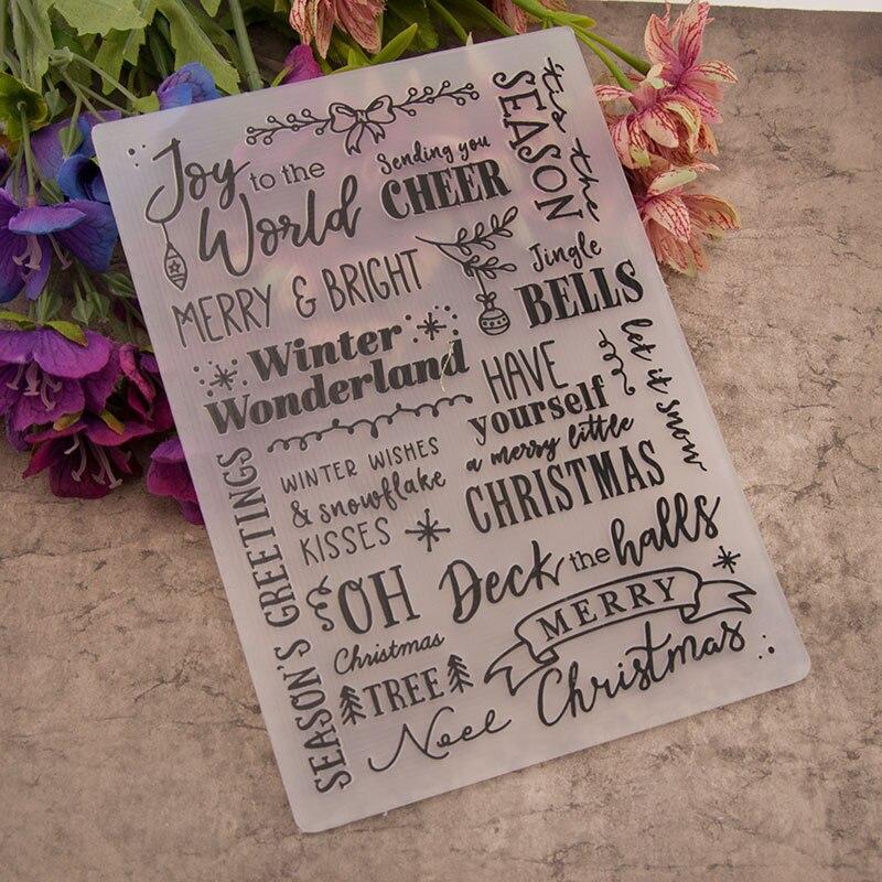 DIY, decoración de álbum de fotos, manualidades de papel, álbum de recortes, plantilla de diseño, moldes para decoración de bodas, plantillas de carpeta en relieve de plástico en inglés