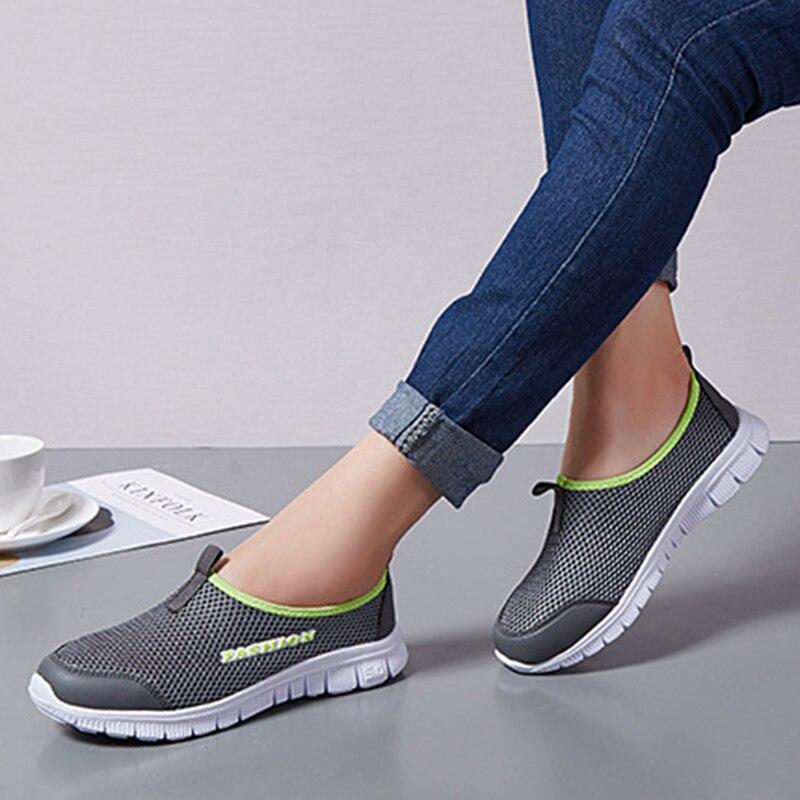 UPUPER, zapatos de mujer de malla transpirable de verano, cómodos, baratos, zapatos informales para mujer, zapatillas deportivas de mujer para caminar al aire libre