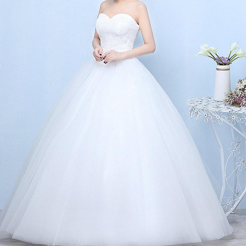 Robes De mariée 2020 Robe De Mariage princesse luxe dentelle blanc Robe De bal robes De mariée Vestido De Noiva Robe De mariée dentelle dos