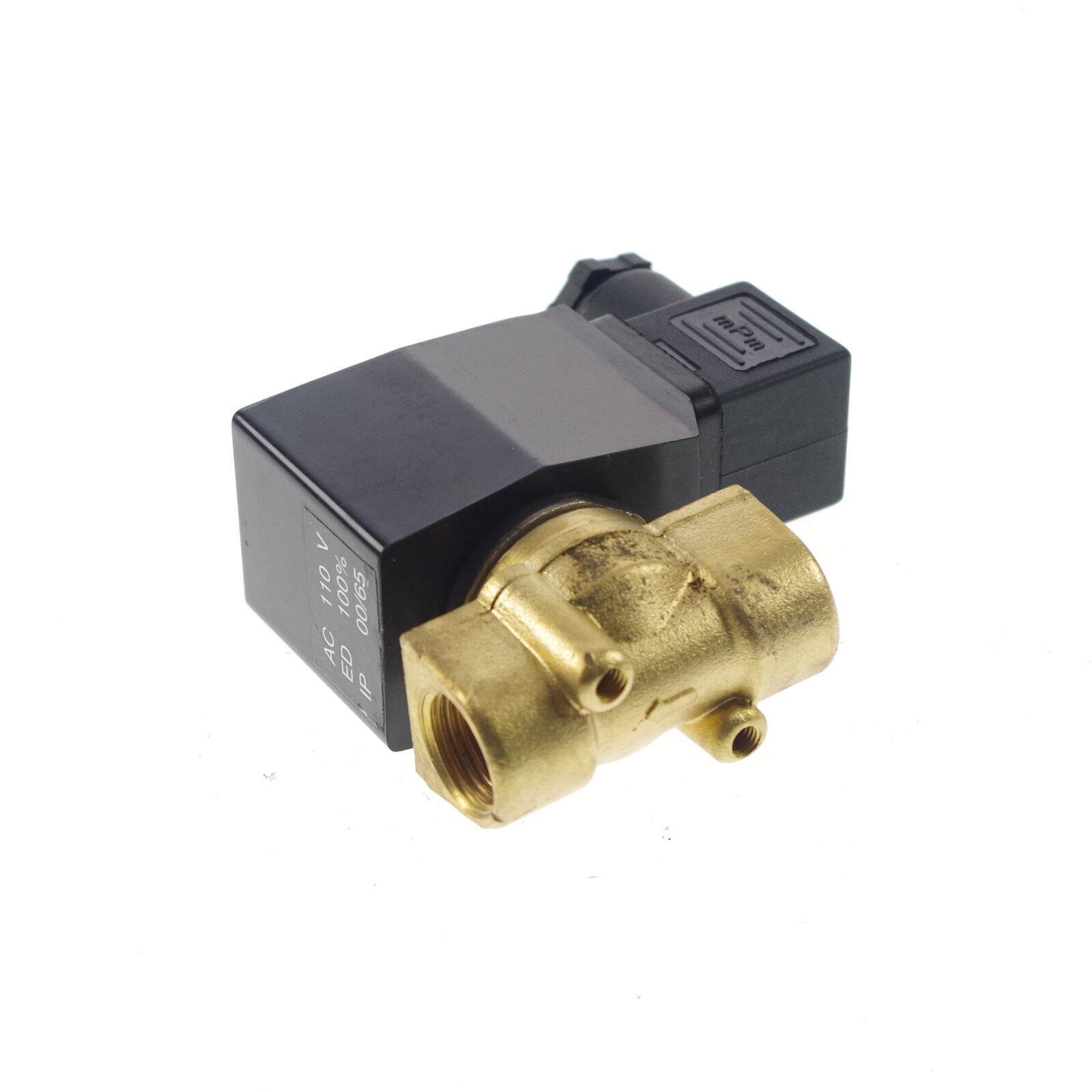 "1"" BSPP NC Flow Bore 25mm Brass 12/24VDC 110/220VAC Methane Propane 2 Ways Solenoid Valve Gas Fuel Air Water 1.0Mpa"