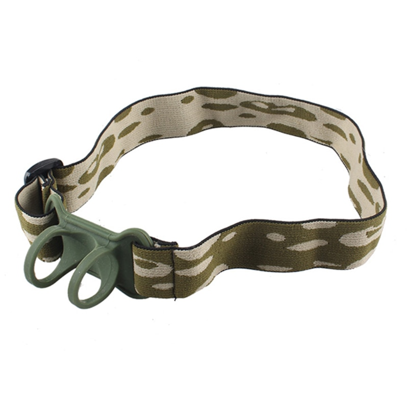CLAITE Adjustable LED Flashlight Headband Fixed Strap Head Belt Outdoor Torch Headlamp Mount Holder For 22-30mm Flashlights