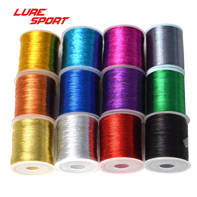 LureSport 2pcs Metallic Thread Rod building component  Decorating rod wrap thread Pole Repair DIY Accessories
