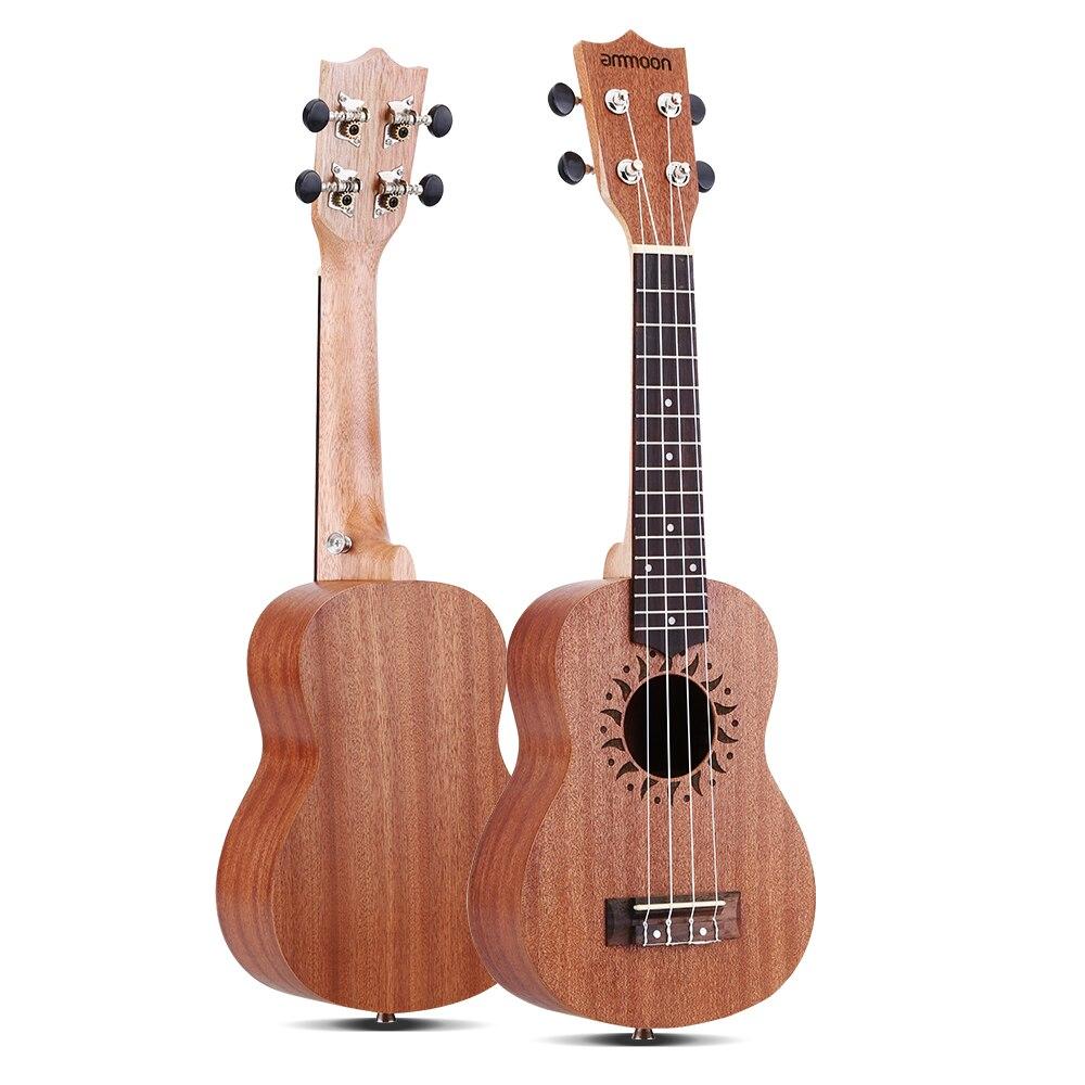 Ammoon Ukulele 21 Mini Akoestische Gitaar Sapele Concert Ukelele 15 Frets 4 String Gitaar String Instrument