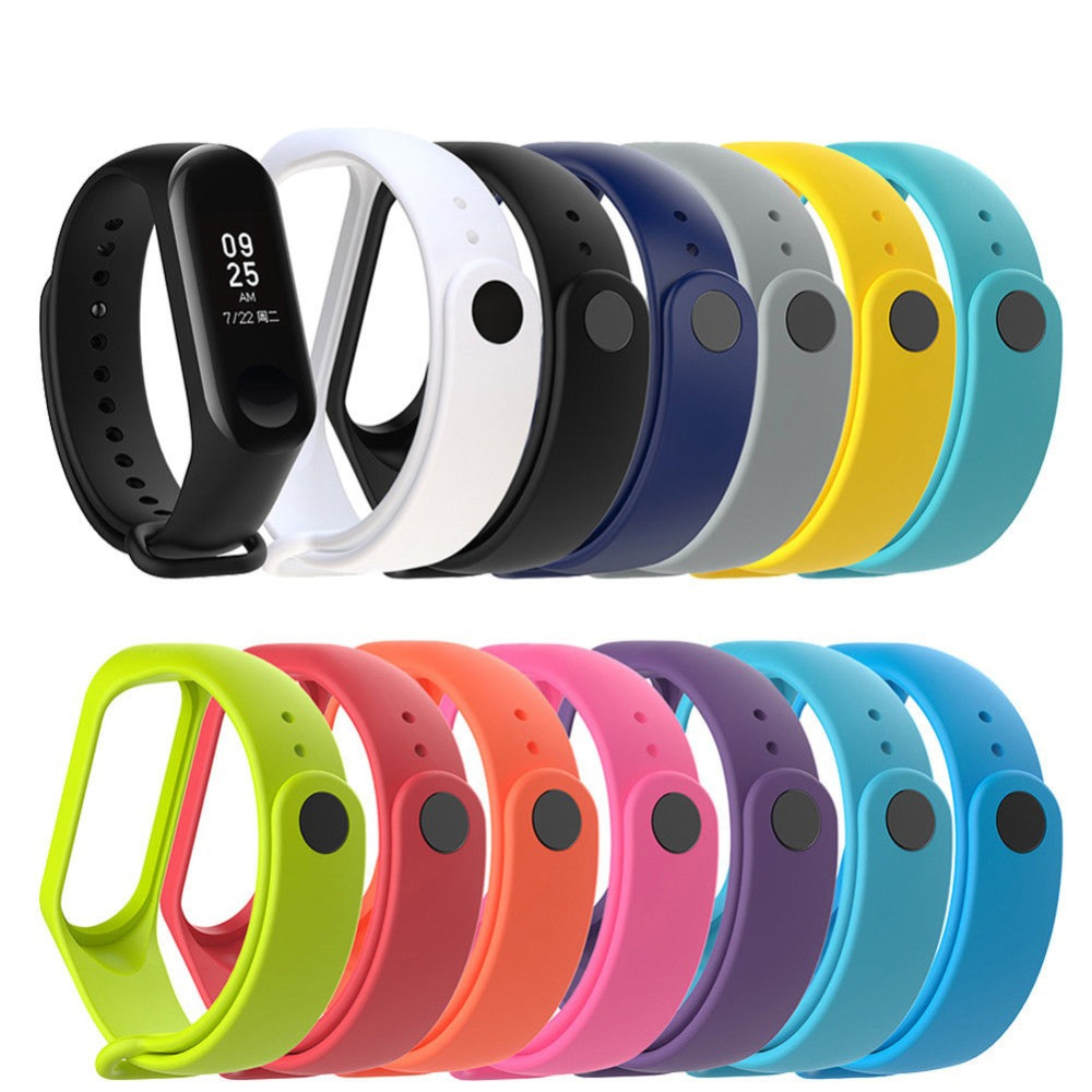 Nueva correa de reloj de silicona transpirable para Xiaomi Mi Band 3, pulsera de repuesto para reloj inteligente Miband 3