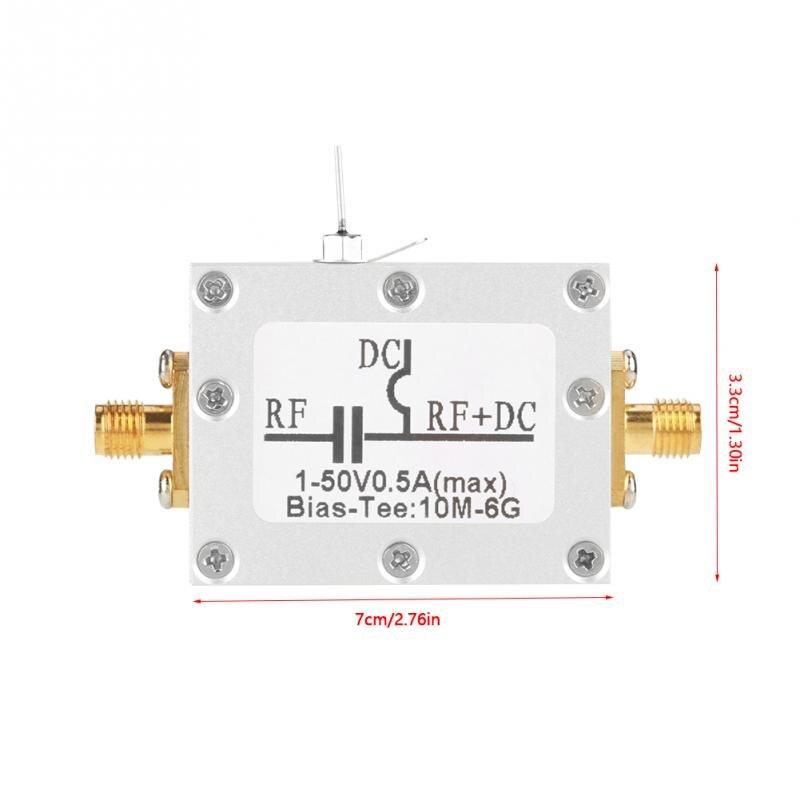 Высокое качество 10 MHz-6 GHz Bias Tee 10 MHz-6 GHz широкополосная радиочастота микроволновая печь коаксиальный Bias DC 1-50V