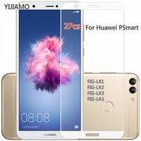 Защитное стекло на экран для смартфона Huawei P Smart, закаленное, 9H, 2 шт.