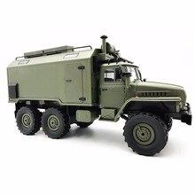 Wpl B36 Ural 1/16 2,4G 6Wd Rc Auto Lkw Rock Crawler Befehl Kommunikation Fahrzeug Rtr Spielzeug Auto Armee Lkw
