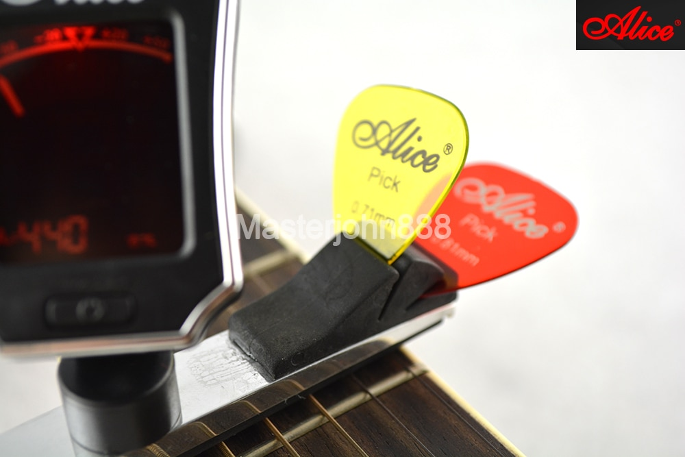 Alice AE7D/SL-A2 Multifunctional Guitar Capo With Color LCD Digital Tuner And Guitar Picks Holder Free Shipping enlarge