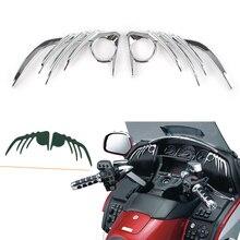 Goldwing GL1800 & F6B moto   Garniture extérieure de haut-parleur avant chromé, décoration pour Honda 2006 2007 2008 2009 2010 2011-2012