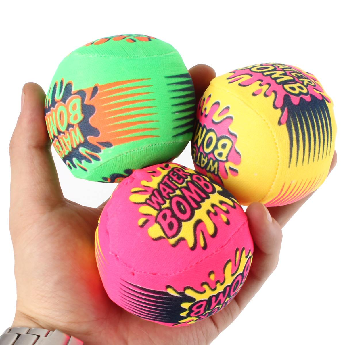 Juego de 3 bolas divertidas para salpicaduras, bomba de agua para niño, Chico, piscina, actividades de verano, playa, fiesta, Juguetes