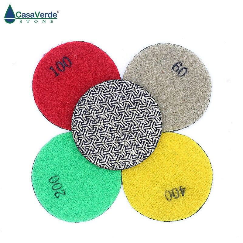4pcs/set 2 inch diamond 50mm electroplated polishing discs Fast Removal Tile Glass Concrete Stone or Metal Polishing