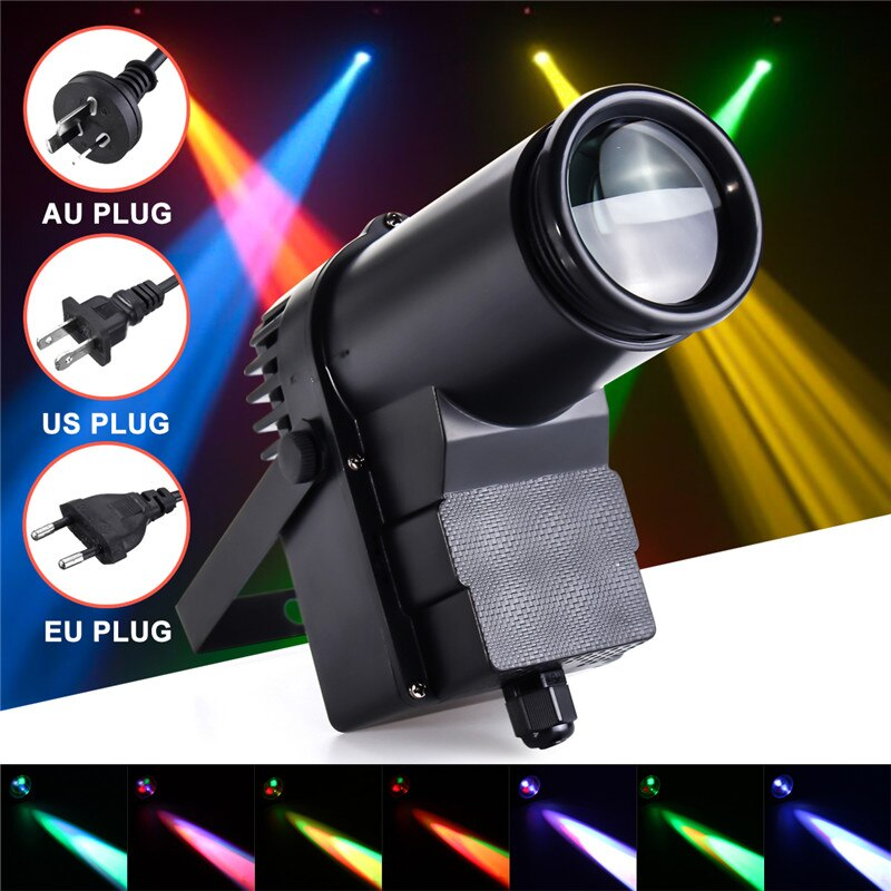 Mising 30W AC100-240V DMX RGBW LED  Light Pinspot Light Beam Spotlight 6CH Professional DISCO KTV DJ  Lighting Effect