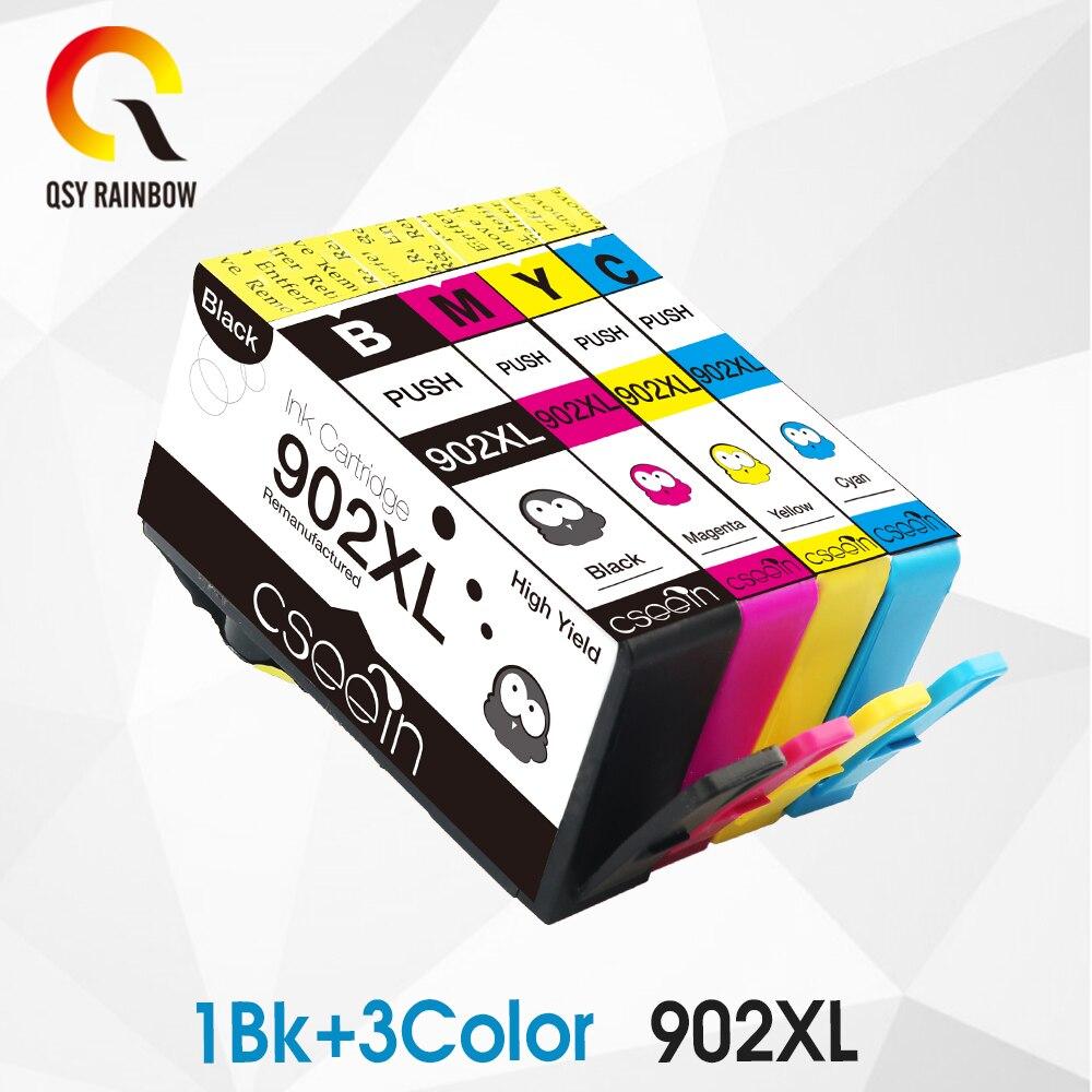 CMYK supplies 4 Pack de repuesto para cartuchos de tinta HP 902 902XL 906XL para impresora OfficeJe 6968 6978 6970 6975 6951 6954
