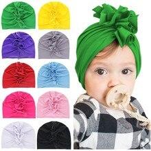 1 Pieces Lytwtws New Fashion Chicken Crown Baby Girls Hat Newborn Elastic Baby Turban Hats For Girls Cotton Infant Beanie Cap