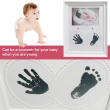 Baby Hand Foot Print Photo Frame Handprint Footprint Photo Frame Kit For Newborn Boys Girls Room Decoration Souvenir Gift