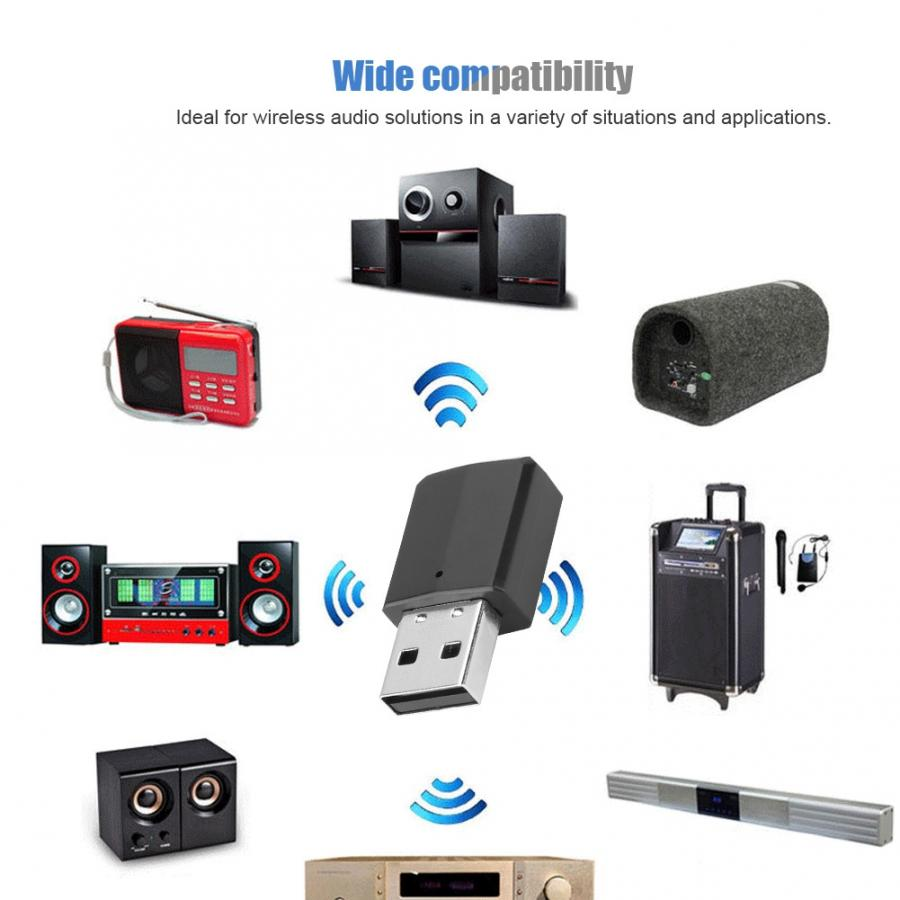 ZF-169 2-en-1 de 3,5mm USB Bluetooth Transmisor receptor de Audio estéreo dispositivo 2019