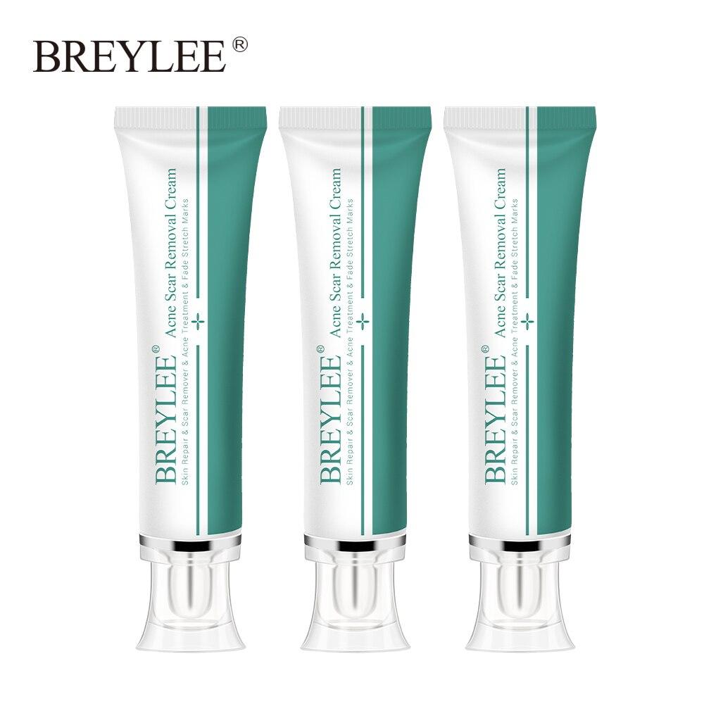 Breylee acne cicatriz remoção da pele creme para o rosto cicatriz tratamento acne clareamento remover estrias creme reparação cuidados com a pele 3 pcs