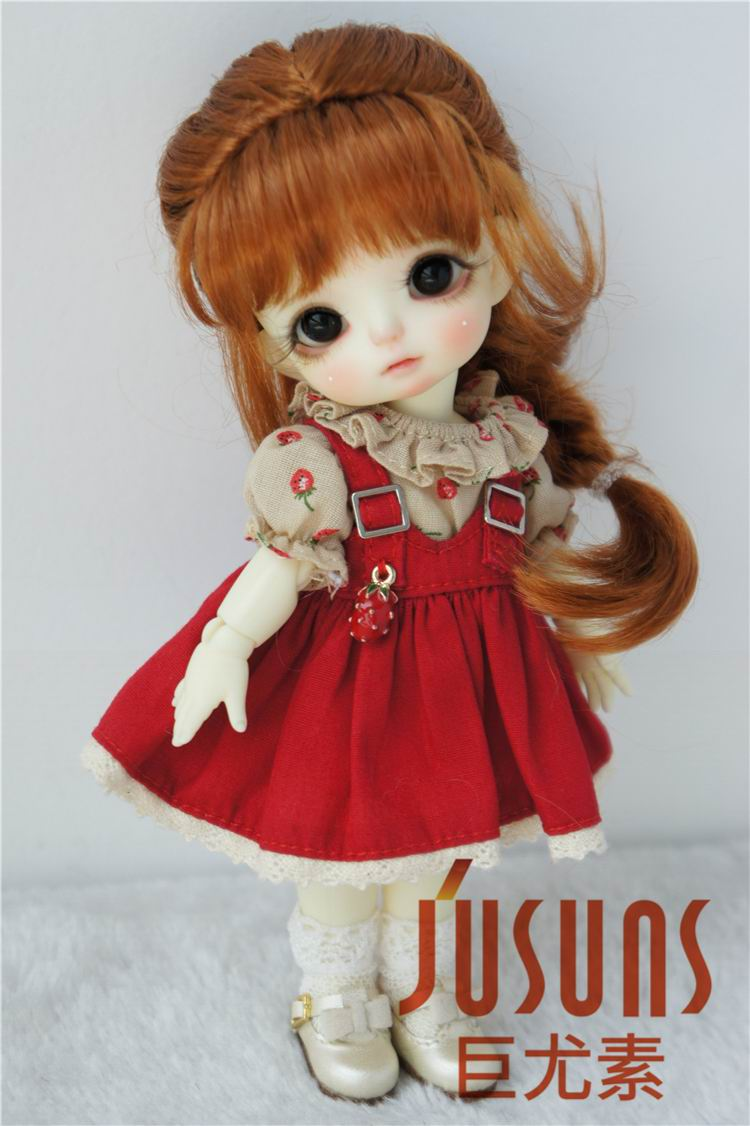 JD413 1/8 1/6 bonita princesa trenza BJD pelucas 5-6 pulgadas 6-7 pulgadas muñeca mohair sintético Peluca de moda muñeca Accesorios