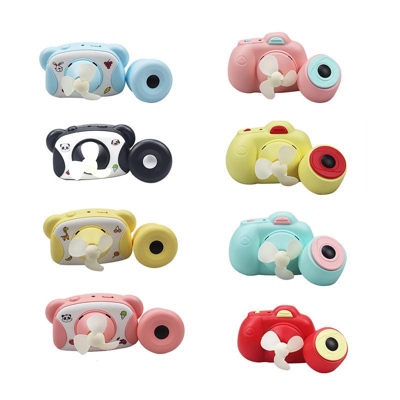Miniventiladores USB portátiles con forma de cámara de dibujos animados para niños, proveedores de juguetes de verano